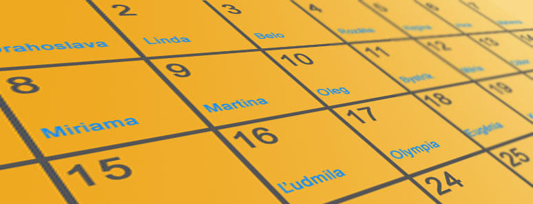 Menný kalendár
